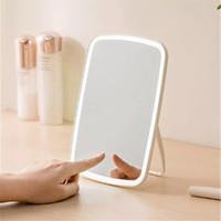 Original Jordan Judy LED Miroir Miroir Contrôle tactile Touch-Touch-sensible à la lumière naturelle Miroir Cosmétique Remplissage Angle réglable lumineux
