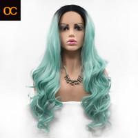 OC932 японский шелк Химические волокна парик шнурка передний капот женщина Длинные вьющиеся волосы цвета Персонализированные настройки DHL бесплатной доставкой