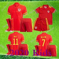 2020 Wales Fussball Jersey Kids Kit 20 21 Ballen Allen James Ben Davies Wilson Camisetas Nationalmannschaft Home Football Hemden + Socken