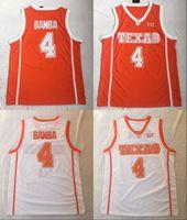 Özel Texas Longhorns Koleji Basketbol Turuncu Beyaz Dikişli Herhangi Bir Ad Numarası # 4 Mohamed Bamba Mo 12 Kerwin Roach Retro NCAA Jersey S-4XL