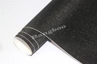 1.52 * 30 M Siyah Glitter Saprkle Vinil Wrap Film Hava Kabarcığı Ücretsiz Araba Wrap Ile Elmas Sandy Folyo Araç Sticker