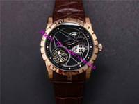 JB EXCALIBUR RDDBEX0393 роскошные мужские часы настоящий турбийон RD505SQ ручной завод механический Сапфир 18 карат розовое золото часы скелет циферблат