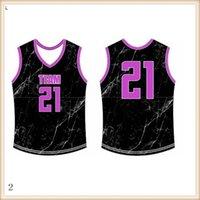 2019 2020 Basketball Jerseys Quick Dry Blau Rot Stickerei Logo Freies Verschiffen-preiswerte Großhandelsmann Größe Jersey223
