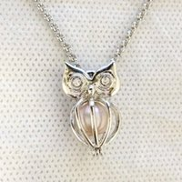 Bling Bling Jewel Eyes Owl Cage Locket Can Put In A 9mm Bead...
