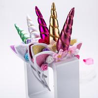 Mode-reizende Mädchen-Einhorn-Stirnband-Kind-Karikatur-Tiara-Geburtstags-Party liefert für Mädchen