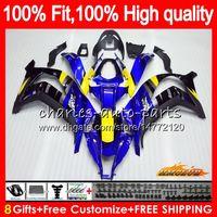 Injection pour Kawasaki ZX 10 R ZX1000 C Bleu Noir Nouveau ZX10R 11 12 13 14 15 AAHC.2ZX 10R 1000CC ZX-10R 2011 2012 2013 2014 2015 Catériel OEM
