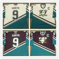 Men  9 PAUL KARIYA Anaheim Mighty Ducks 2003 CCM retro Home ice Hockey  stitched VINTAGE Jersey white purple ba8e436b7