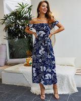 أزياء الصيف الأوروبية والأمريكية التصميم الأصلي أزياء المرأة الأوروبية والأمريكية 2019 نماذج انفجار الصيف البوهيمي تنورة طويلة