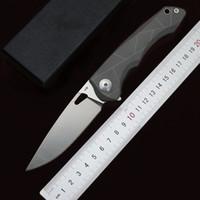 Miker Flipper Klappmesser Kugellager D2 Stahl Taschenmesser 60HRC Titanhandgriff-im Freien kampierende Jagd-Überlebens-Messer edc