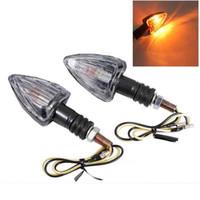Indicador LED se encienden 2pcs Intermitente de motos de luz LED de luz de señal ámbar intermitente de la lámpara