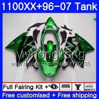 + Venta caliente del tanque verde Para HONDA Blackbird CBR 1100XX CBR1100 XX 02 03 04 05 06 07 271HM.41 CBR1100XX 2002 2003 2004 2005 2006 2007 Carenados