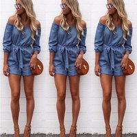 La MaxZa Jeans Off the Shoulder Playsuit Female for Women Sa...