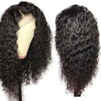 Parrucche brasiliana riccia merletto pieno con dei capelli del bambino Lacefront parrucca glueless Virgin riccia piena del merletto dei capelli umani parrucca per le donne nere
