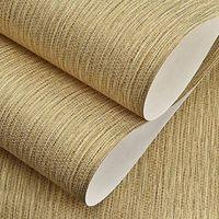 no tejido rústico Textura de paja de color puro papel pintado moderno simple y sencilla es retro sólido clásico dormitorio decoración de la pared de papel, marrón, beige