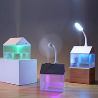 Umidificador Névoa Com USB Fan USB LED Light Para Quarto do bebê ultra-premium Mini umidificador de ar difusores Waterless Auto Shut-Off RRA2823
