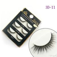 NOVO do cabelo 3D Mink Cílios postiços 16 Styles Handmade Beleza Thick longo macio Mink cílios Falso Eye Lashes pestana Sexy Alta Qualidade