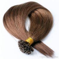 200 Stränge Berufssalon- mit Keratin Fusion Prebond Haarverlängerung I TIP U TIP V TIP niedrigsten Preis, freies DHL