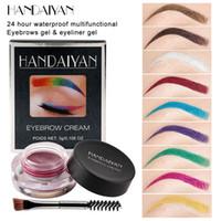 Handaiyan Eyebrow Pomade Eye-liner Super imperméabilisée Perruques de maquillage Multi Couleur Multi Couleur