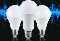 Lumière de nuit LED Ampoule PIR Capteur Motion AC 85-265V E27 LED Ampoule Lampe 5W 12W Dusk à Dawn Light pour la maison