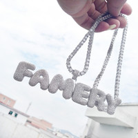 Numbers A- Z Custom Name Bubble Letters Necklace Pendant For ...