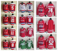 65a1457a215 New Arrival. Washington Capitals 74 Brooks Laich 8 Alex Ovechkin 5 Rod  Langway 11 Mike Gartner 21 Dennis Maruk Hockey Jerseys