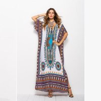 New Summer Dresses For Womens Long Gown Batwing Beach Dress ...