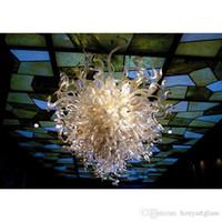 Frete grátis LED AC personalizado estilo contemporâneo Stair Art Luz New Design Mão vidro fundido Chandelier