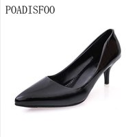 wholesale 2018 New Women' s Fashion Black Pointed Shallo...