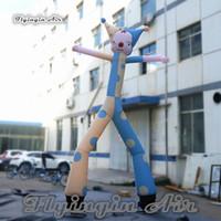 Utomhus reklam uppblåsbara clown dansare 5m höjd luft himmel rör man cirkus prestanda rolig bouncer med två ben för butik evenemang dekoration