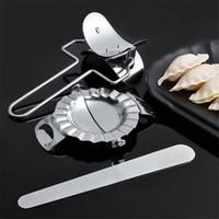 Paslanmaz Çelik Dumpling Maker wraper Hamur Kesici Ravioli Dumpling Kalıp Dolgu Kaşık Mutfak Aksesuarları Pasta Araçları JK1911KD