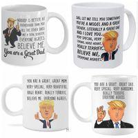 도널드 트럼프 머그컵하면된다 위대한 엄마 아빠 세라믹 창조적 인 커피 물 컵 트럼프 와인 세라믹 머그잔 어머니 추수 감사절 선물 C291