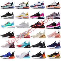 Nike air max react 270 running shoes airmax 270 react Designer-Schuhe Hot Schlags Foto Blue Mens-Frauen-Laufschuhe Triple-Weiß-Universität 27C airmax 270 Turnschuhe 36-45