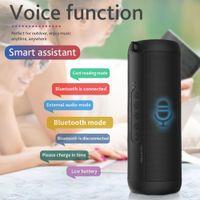 T2 Bluetooth Music BASS Altoparlante Impermeabile Portatile Portatile Outdoor LED Colonna wireless Altoparlante Supporto TF Scheda FM Radio AUX INPUT