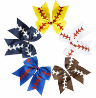 Kids Girl Headband Baseball Design Hair Bows Glitter Baby Gi...
