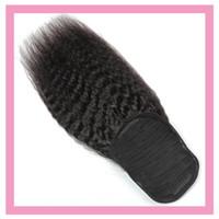 Poneytail Kinky Droit Naturel Couleur Naturelle Malaisienne Extensions de cheveux Vierge 8-22inch Yaki Poile de queue de poney