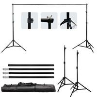 3 clips 10ft fotografie foto verstelbare achtergrondstandaard Hoogwaardige professionele foto achtergrond kit hot koop