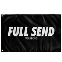 Completa Enviar NELKBOYS Bandeira 3x5ft Impressão Poliéster Clube Sports Indoor Com 2 guarnições de latão, frete grátis