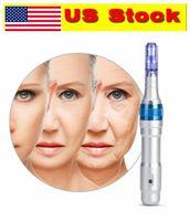 Authentic US Stock !!! Timbre Auto électrique Dr Pen A6 Derma Pen rechargeable sans fil Microneedle cartouche Conseils MTS PMU Soins de la peau Beauté