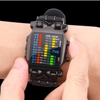 2018 new brand TVG Rubber Band waterproof cool geek LED Digital Sports Watches Black Men Fashion Binary Gift Clock Watch