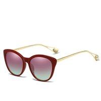 cb3029b8165 New Arrival. 2019 New Woman Vintage Sunglasses Brand Designer Metal Frame  Pearl Decoration Sun Glasses Cat Eye Shade ...