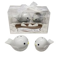 Ywbeyond Wedding guests and Baptism Souvenirs Return Gifts Feathering the nest ceramic love bird salt and pepper shakers 60pcs(30sets)