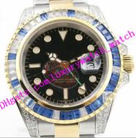 رجال مبيعات المصانع الموضة ساعة اليد 40 ملم 116759 ستيل بلاك دايل رينبو دايموند دودر أوتوماتيكي ساعة شحن مجانية