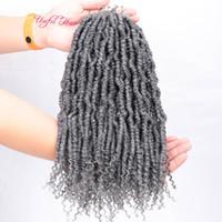 Fácil cabelo Passion torção Pré-circuito crochet Tranças Freetress premium Synthetic cabelo Braid Crochet ISLAND TWIST 14inch bomba torção mulheres negras