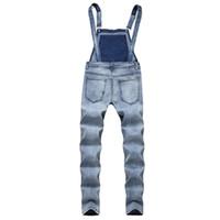 2019 мода человек джинсы краткое твердые мужчины комбинезоны тонкий ремень отрегулировать комбинезон повседневная большой карман джинсовые комбинезоны мода Жан комбинезон