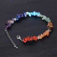 Para Mulheres coloridos Gravel pulseira irregular de pedra Yoga Jewelry Chakra Bracelet pulseras mujer moda pulceras y brazaletes mujer