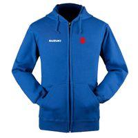 Сузуки логотип молния кофты пальто 4S магазин пользовательских молнии толстовка с капюшоном куртки