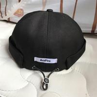 İpli Beanie Brimless Cap Vintage Retro Leon Harbour Docker Hat 2020 Manşet Kafatası Sailor Biker Cap Yaz Açık Casual Erkekler Kadınlar Hadde