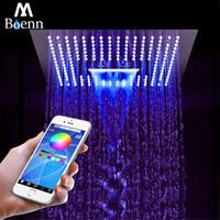 M Boenn 64 color 3 Función de Big cabeza de ducha cascada de techo ducha baño SPA lluvia cromo del acero inoxidable de ducha