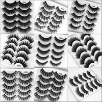 5 Pairs 3D Faux Cils 두꺼운 거짓 속눈썹 Soft Faux Mink Hair Lashes 손수 만든 속눈썹 Extention Lispy Makeup Maquiagem