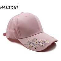 [miaoxi] Hip Hop Women Flower Hat Female Baseball Cap Summer...